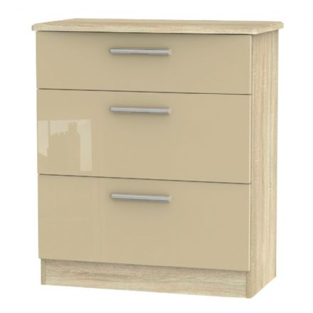 Knightsbridge 3 Drawer Deep Chest